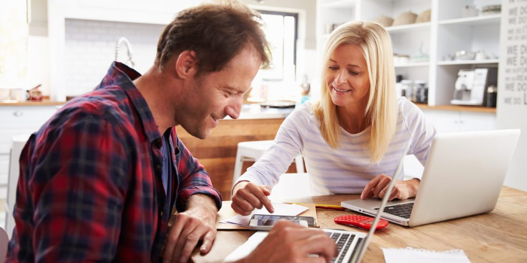 Image of a self employed couple looking to remortgage